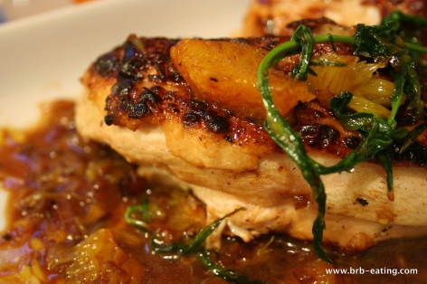 pan roasted chicken with orange cognac sauce
